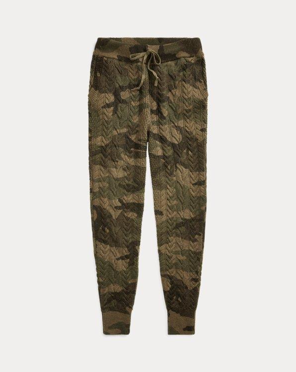 Pantalon de jogging camouflage torsadé