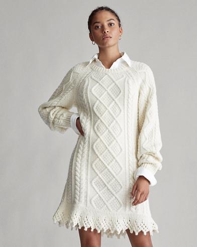 Abito in maglia a punto Aran