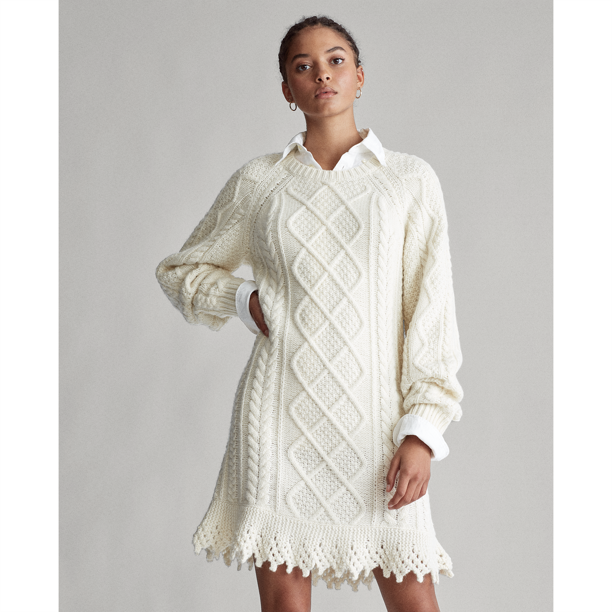 Polo Ralph Lauren Aran-Knit Sweater Dress 1