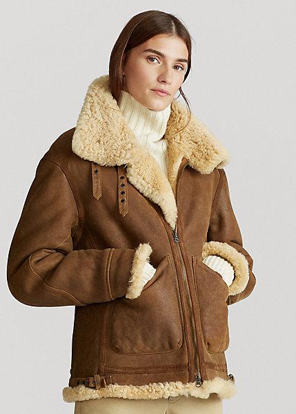 Polo RalphLauren Shearling Leather Jacket