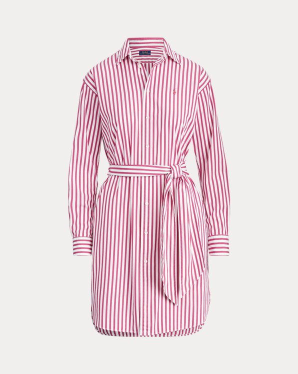Striped Belted Shirtdress