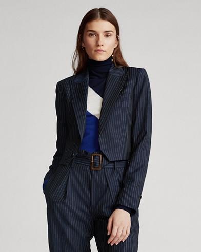 Cropped Wool Blazer