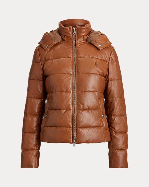Belmont Leather Down Jacket