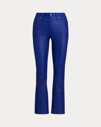 Leather Cropped Flare Pant