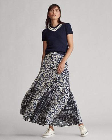 Paneled Maxiskirt