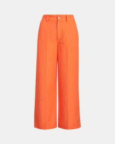 Linen-Blend Wide-Leg Pant