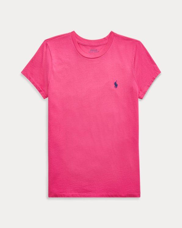 Camiseta de punto jerseycon cuello redondo