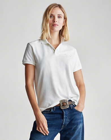 Classic Fit Beaded Polo Shirt