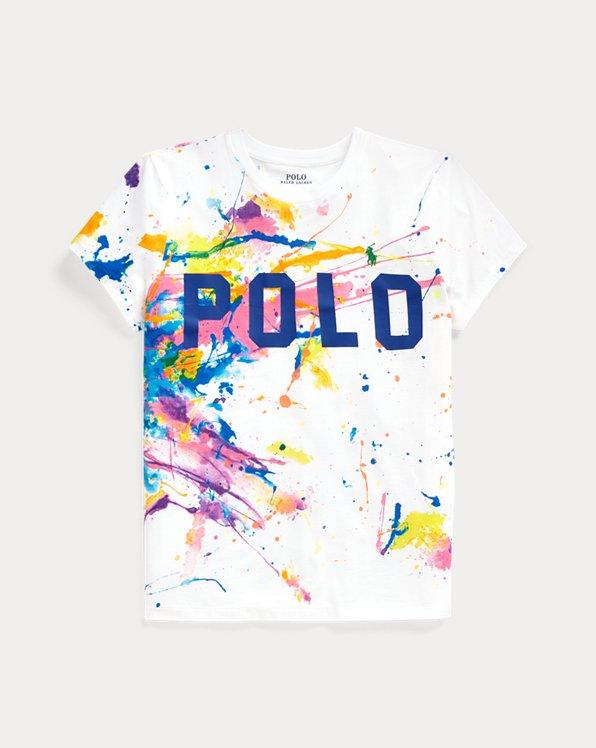 Camiseta con gráfico de pintura Polo