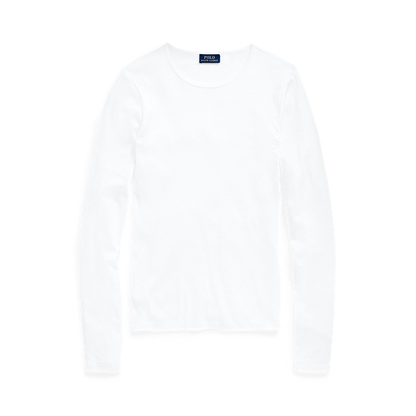 폴로 랄프로렌 Polo Ralph Lauren Cotton Long Sleeve Shirt,White