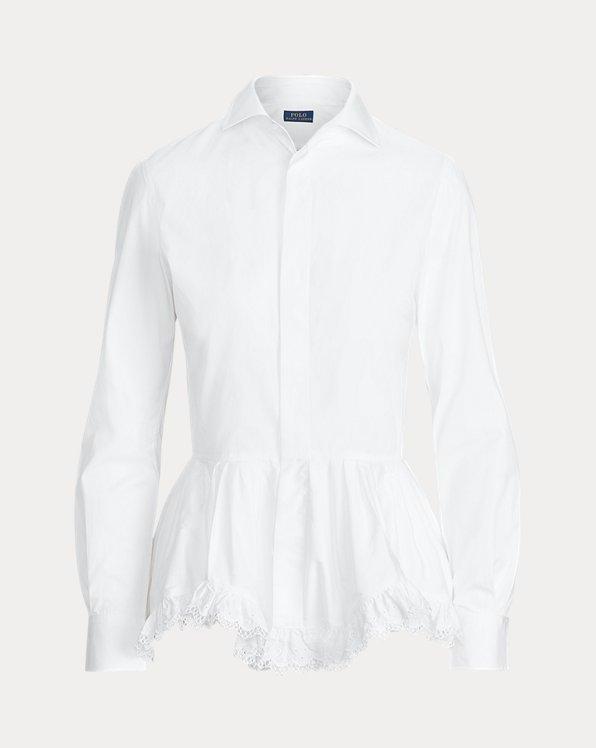 Camisa de paño con péplum