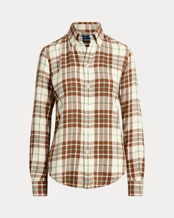 Kariertes Hemd aus Baumwolltwill