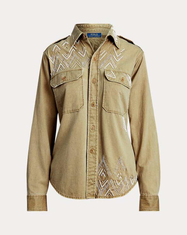 Beaded Twill Shirt