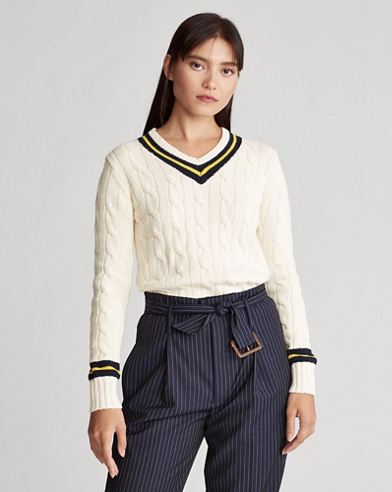 Long-Sleeve Cricket Sweater