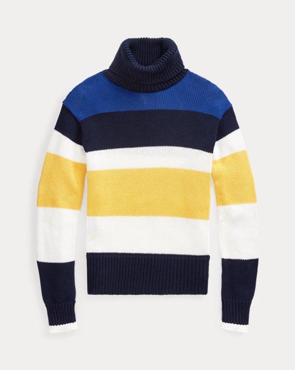 Jersey de algodón de cuello vuelto