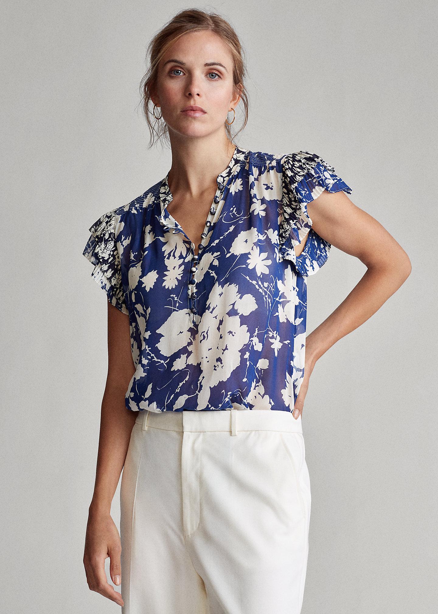 Polo Ralph Lauren Camicetta in crêpe a fiori 1
