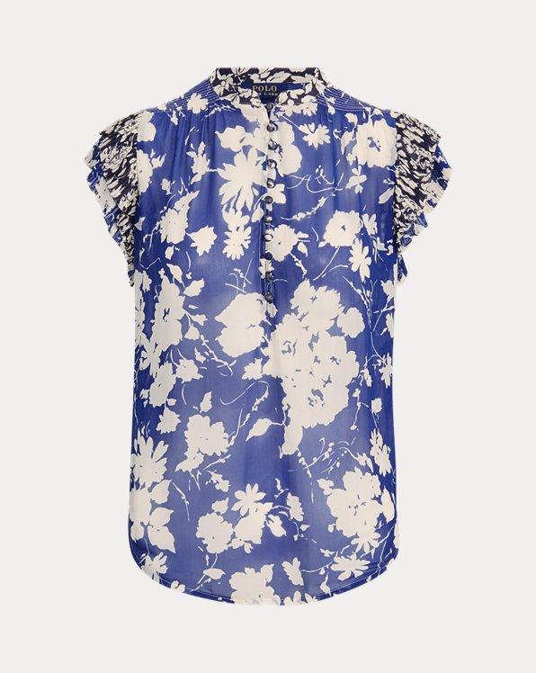 Blusa floral de crepé