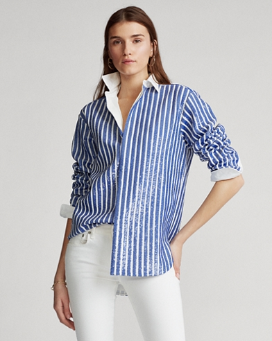Sequined Stripe Shirt