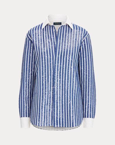 Sequin-Stripe Shirt
