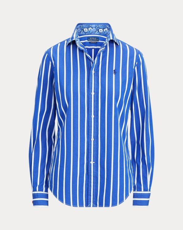 Camisa de algodón a rayas