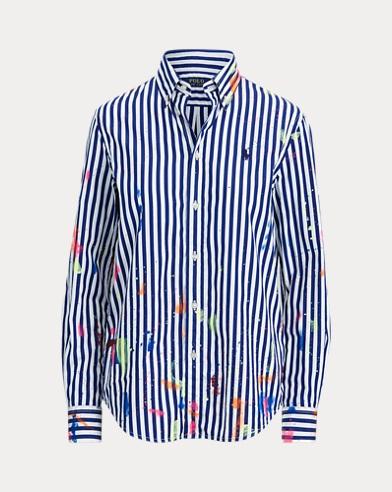 Paint-Splatter Cotton Shirt