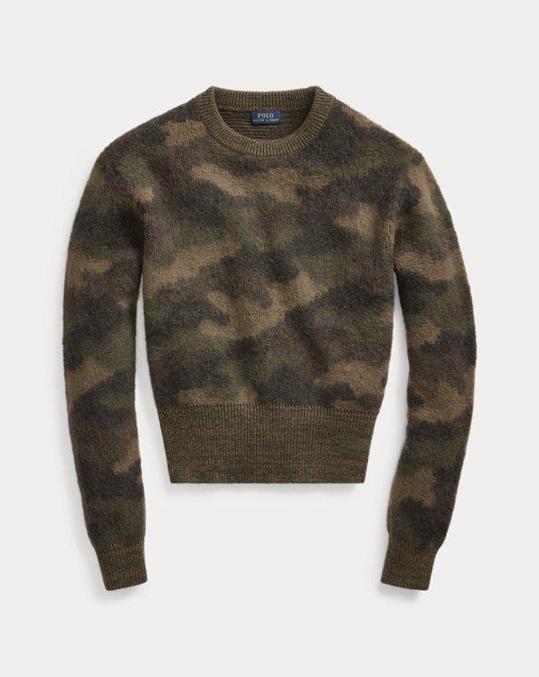 Camo-Print Wool Jumper