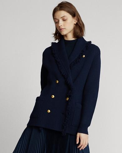 Blazer in maglia di misto lana