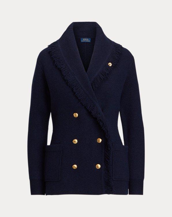 Blazer en tricot de laine mélangée