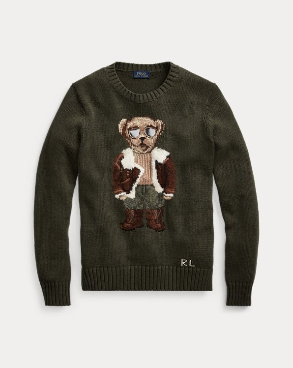 Pullover mit Aviator Polo Bear