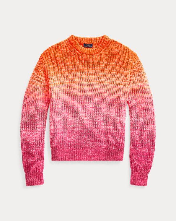Pull ombré en laine mélangée