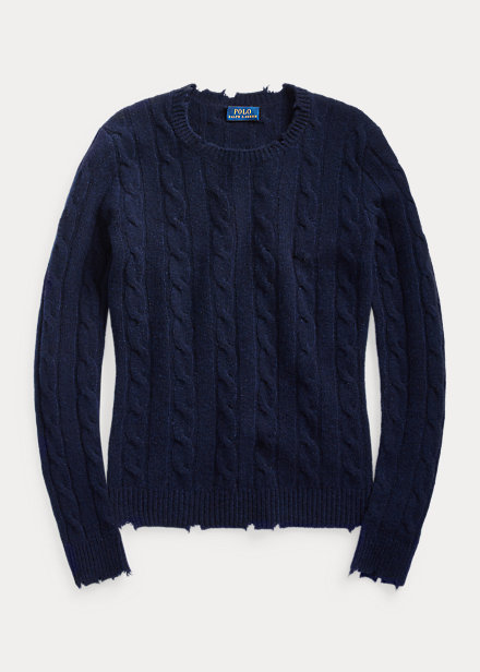 Polo Ralph Lauren Distressed Cashmere Sweater