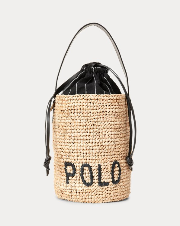 Raffia Mini Bucket Bag