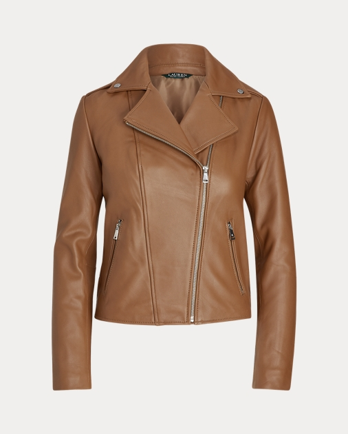 Leather Moto Jacket by Ralph Lauren