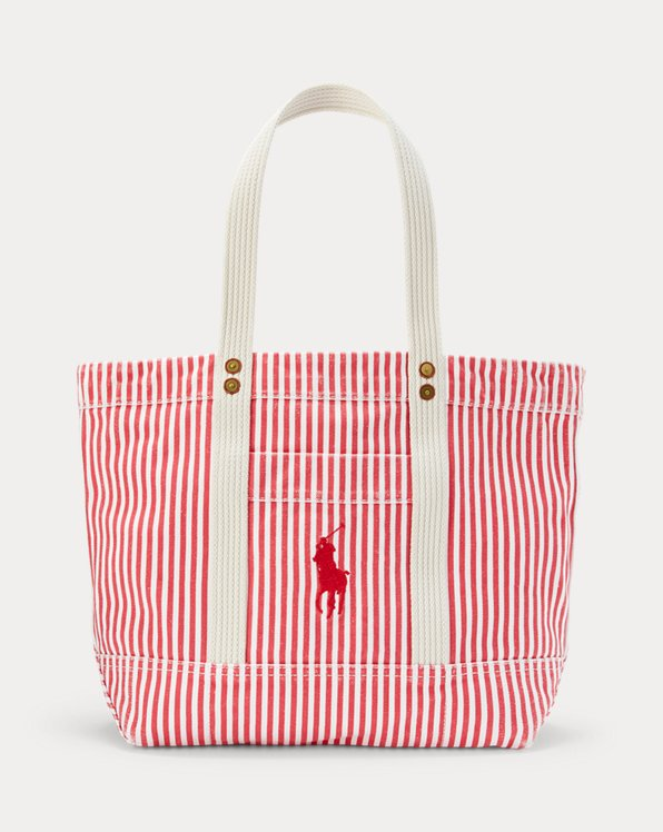 Canvas Striped Medium Tote
