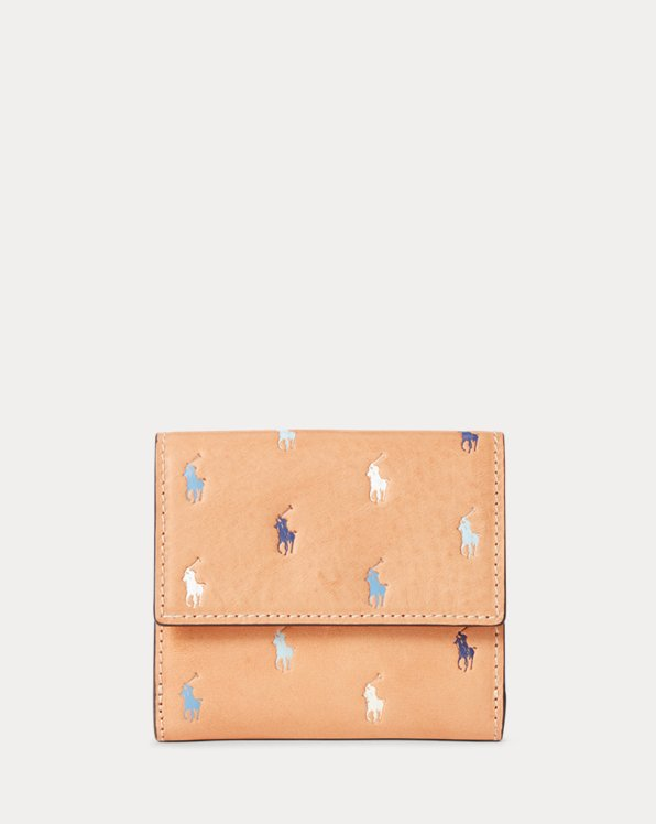 Leather Pony Compact Wallet