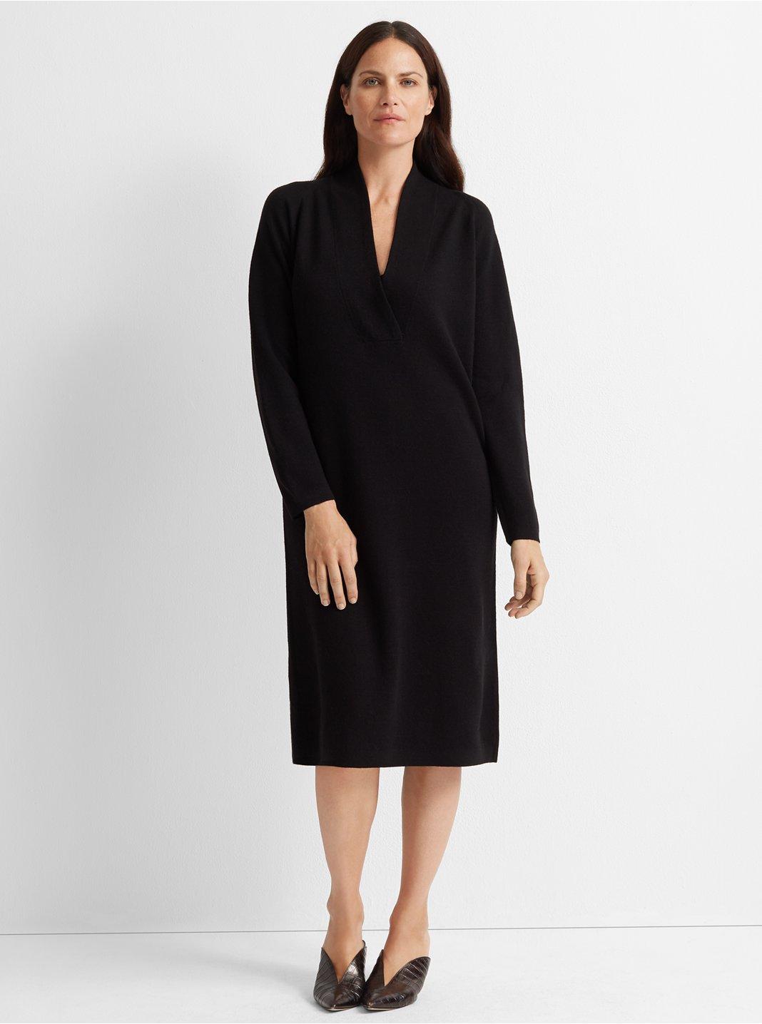 Cross Front Sweater Dress