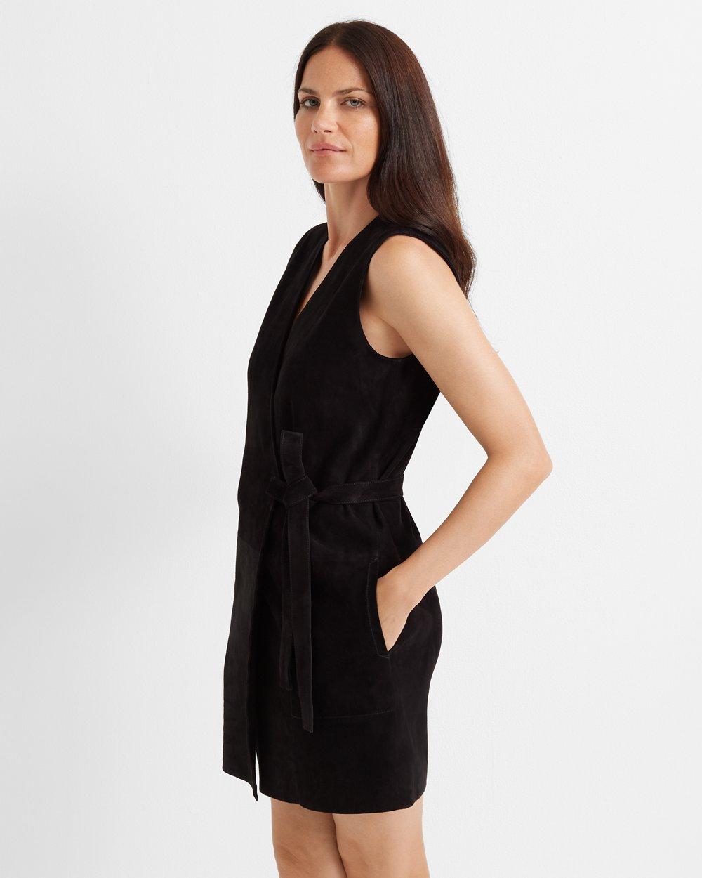 Clubmonaco Suede Wrap Dress