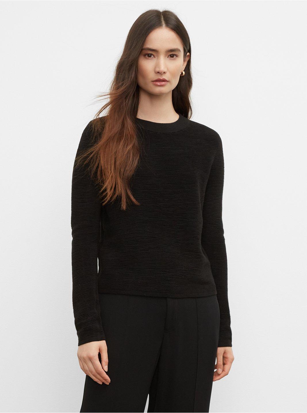 클럽 모나코 오토맨 스웨터 - 블랙 Club Monaco Ottoman Crew Sweater 562018