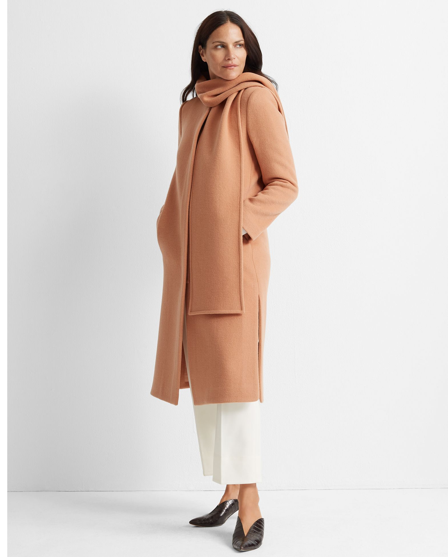 CLUB MONACO Detachable Scarf Coat
