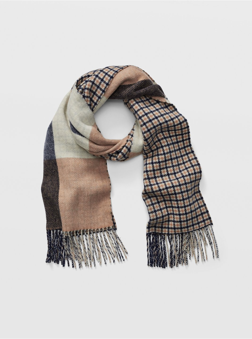 Thisbee Check Wool Scarf