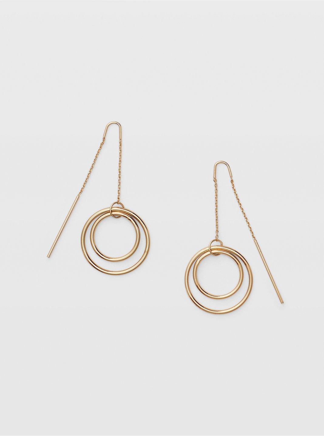 Multi Circle Threader Earring