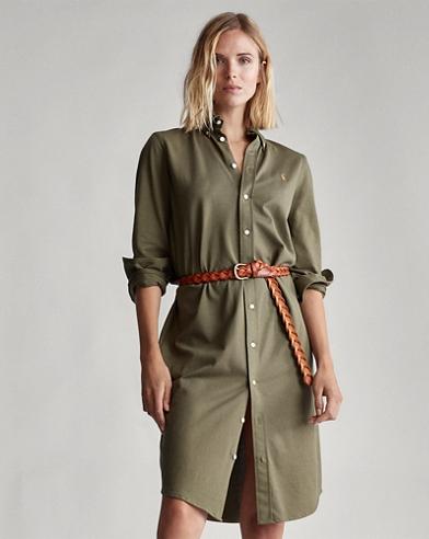 Robe-chemise en coton Oxford