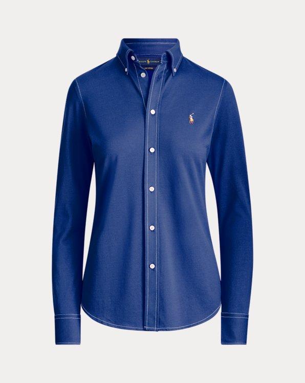 Camisa Oxford en punto de algodón
