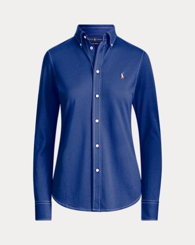 Cotton Knit Oxford Shirt