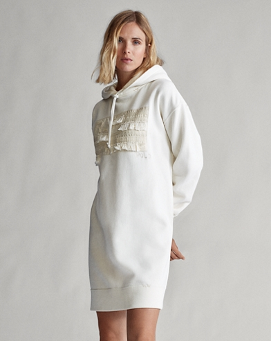Robe-pull à capuche en molleton