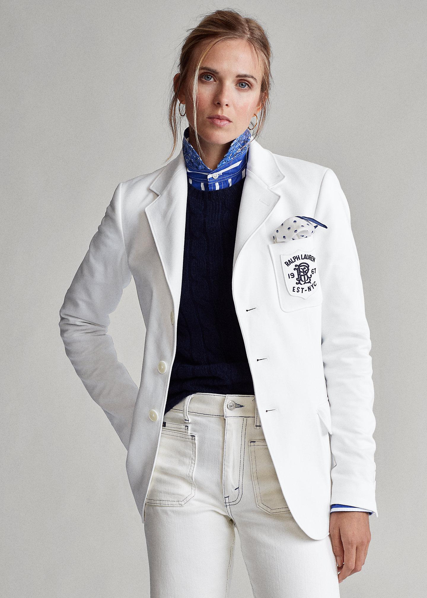 Polo Ralph Lauren Blazer in jacquard a maglia doppia 1