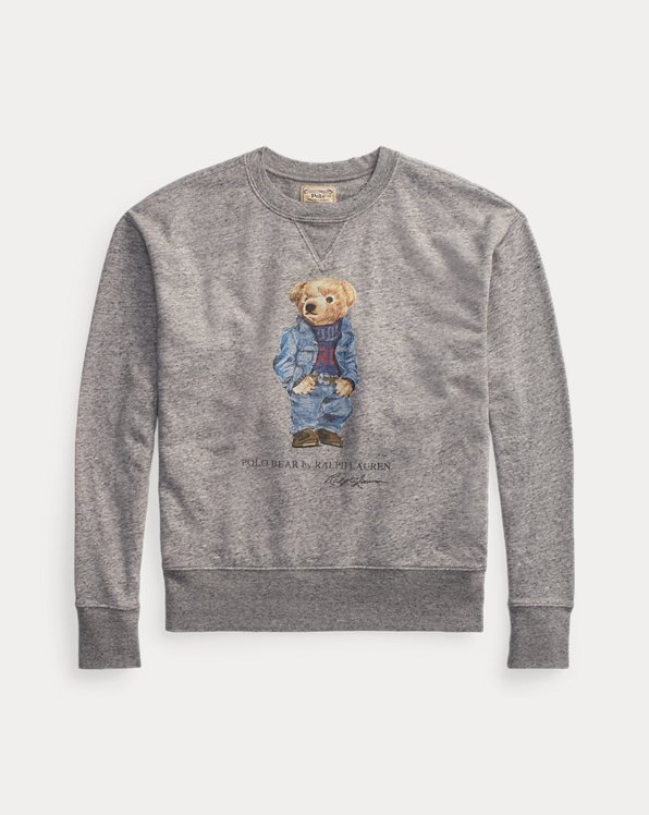 Fleece-Sweatshirt mit Polo Bear