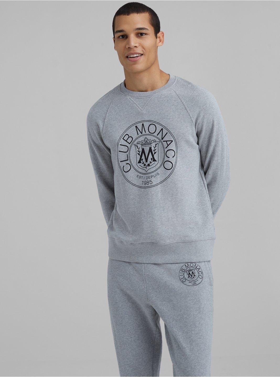 Garment-Dyed Crest Sweatshirt