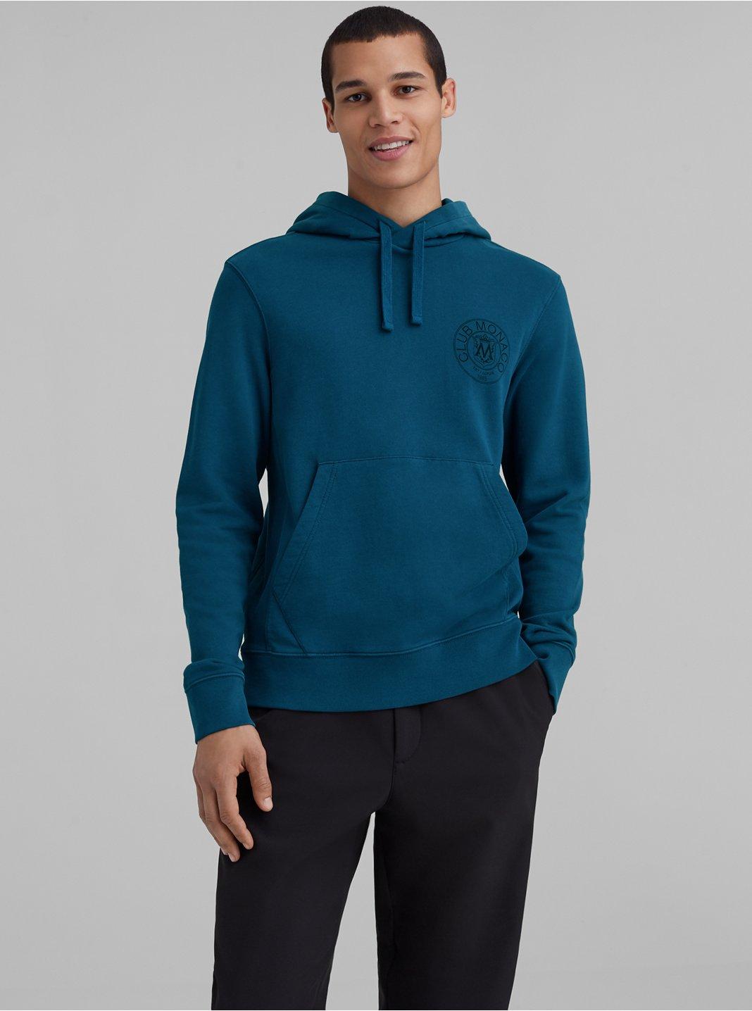 Garment-Dyed Crest Hoodie