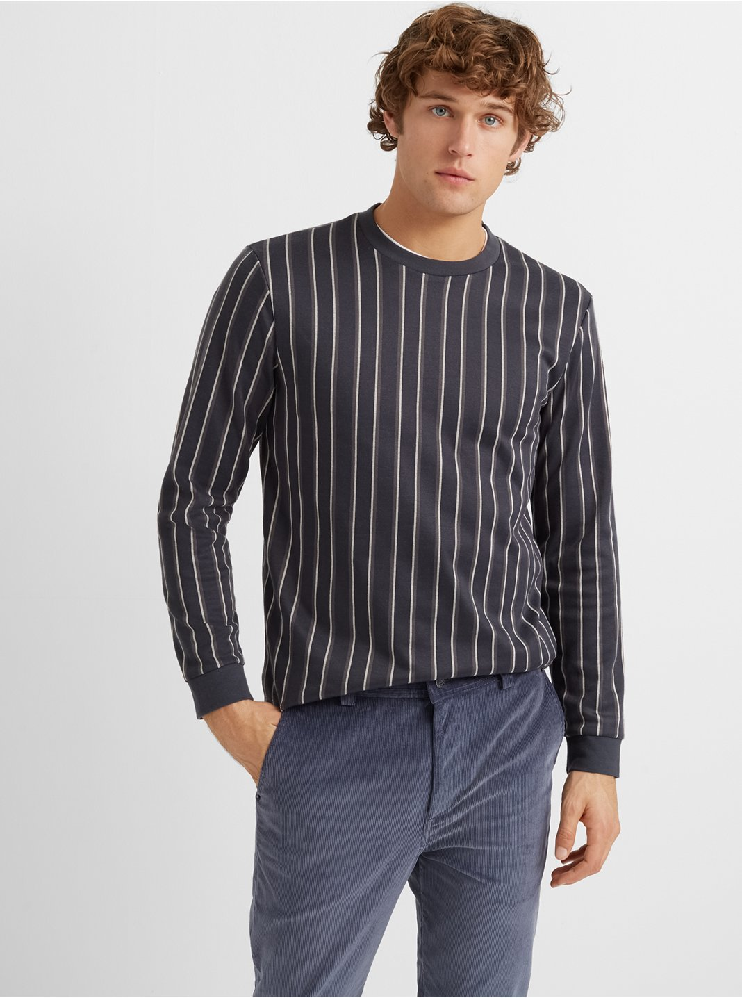 Striped Crewneck Top